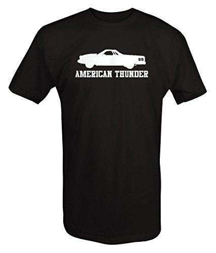 American Thunder SS El Camino 454 V8 Muscle Car T shirt - Large (1973 El Camino Ss 454 For Sale)