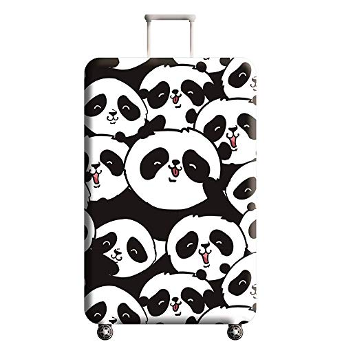 Travel Luggage Cover, Naranja gato Suitcase Panda Cute Chinese Style Protector Washable Spandex Fit for 18-32 Inch…