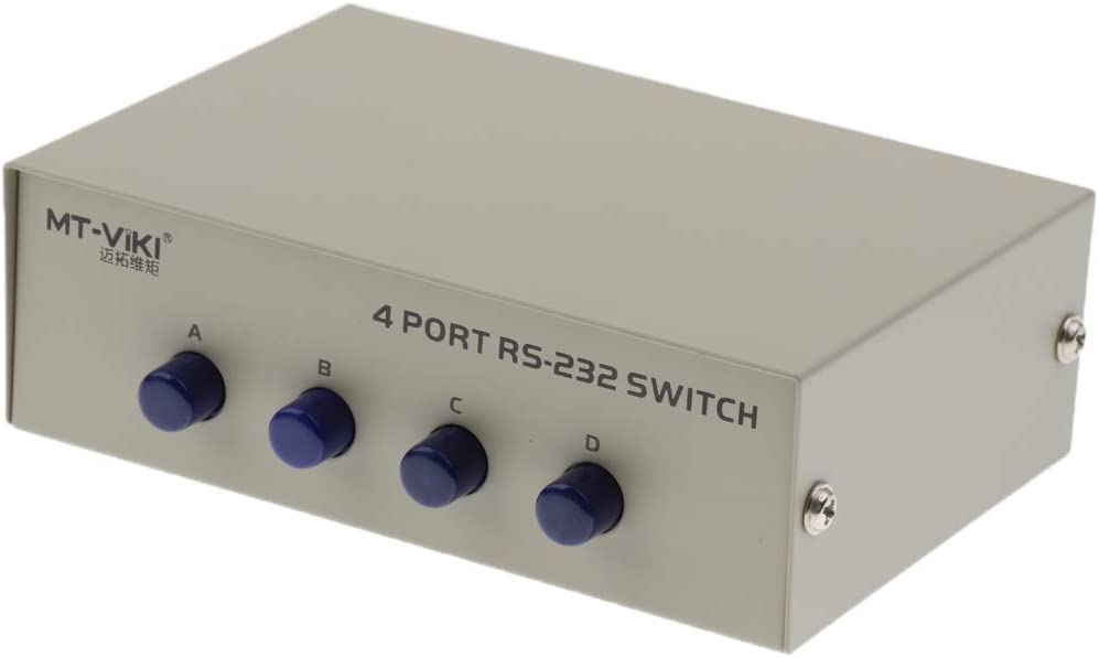Perfk Db9 Switch 4 In 1out Umschalter 4 Port Rs232 Elektronik