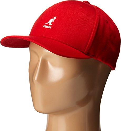 The Kangol Sport Collection Men's Wool Flex-Fit Baseball Cap, Rojo (Small/Medium)