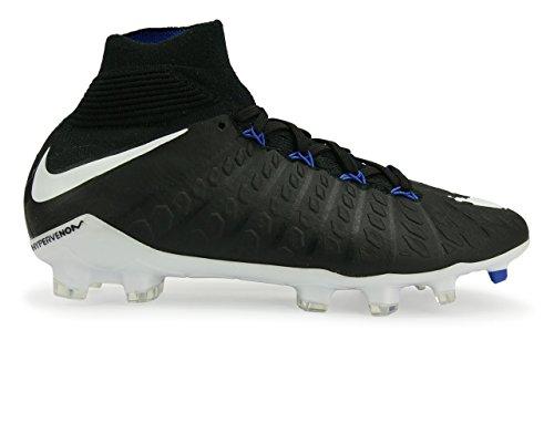 Nike Jr Hypervenom Phantom 3 DF FG Black/White/Game Royal Shoes - 5.5Y (Kids Soccer Shoes Nike Hypervenom)