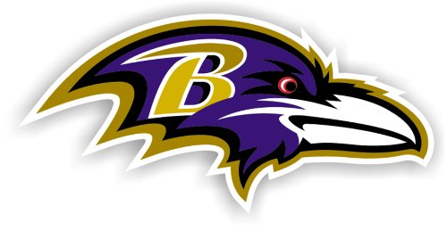 NFL Baltimore Ravens 12-Inch Vinyl Logo Magnet (Car 12 Logo Magnet)