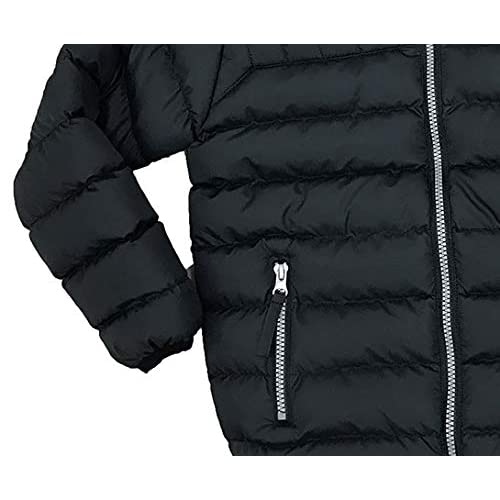 The Polar Club Boys Puffer Jacket Fleece Lined Cozy Packable Black or Navy with Removable Hood