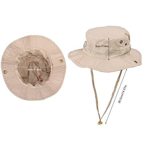 147123fa8e43a Gespout Sombreros Gorras para Mujer Hombre Paño Protección Solar Viaje  Playa Sol Verano Pescar Senderismo Bohemia Estilo 1pcs 60   31CM Marrón   Amazon.es  ...