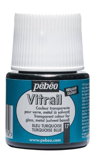 Pebeo Vitrail Stained 45 Milliliter Turquoise