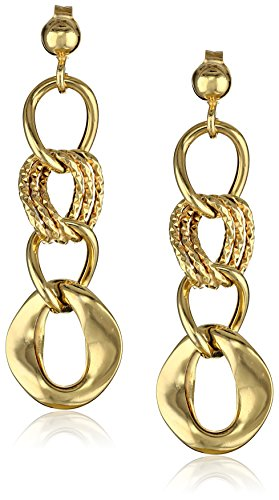 Yellow Gold Italian Dangle Earrings