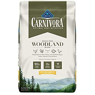 Blue Buffalo Blue Carnivora Woodland Blend Optimal Prey Nutrition High Protein, Grain Free Healthy Weight Dry Dog Food