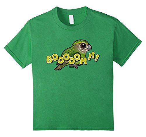 unisex-child Endangered Kakapo of New Zealand Cute Cartoon Bird T-Shirt 12 ()