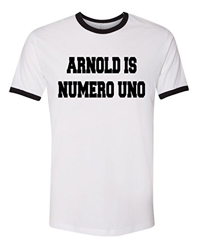 Arnold is Numero Uno T-Shirt Ringer Tee S White/Black Arnold Is Numero Uno T-shirt