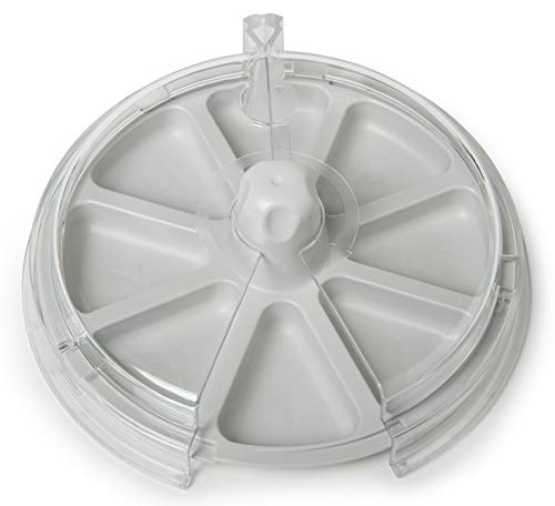 8 the Plate is an Award Winning Spinning Plate for Picky Eaters Making Meals Fun - Gray Grace ()