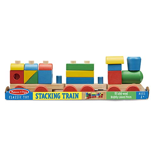 4139RHZ%2BK3L - Melissa & Doug Stacking Train (Classic Wooden Toddler Toy, 18 Pieces, Great Gift for Girls and Boys - Best for 2, 3, and 4 Year Olds)