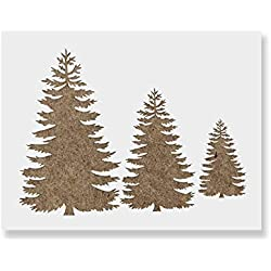 Pine Trees Stencil Template - Reusable Stencil with Multiple Sizes Available