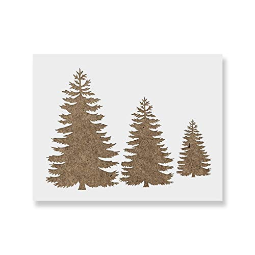 - Pine Trees Stencil Template - Reusable Stencil with Multiple Sizes Available