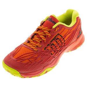Zapatillas De Tenis Wilson Kaos Para Hombre All Court Red / Solar Lime