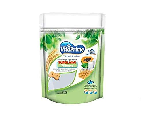 Biscoito Integral Natural Premium VitaPrime Super Mini Mamão, leite, cereais e ora-pro-nóbis para Cães