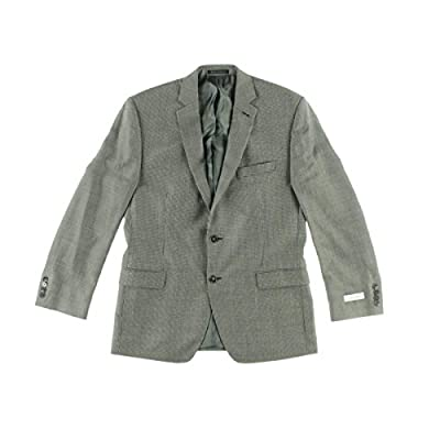 Calvin Klein Mens Silk Blend Slim Fit Two-Button Suit Jacket