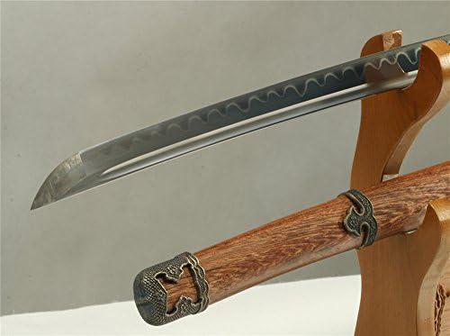 Amazon.com: Damasco - Espada de acero templado de arcilla ...