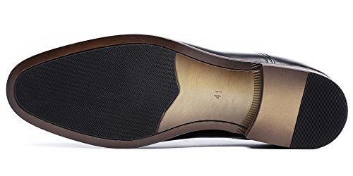 DESAI Men's Leather Dress Shoes Cap Toe Lace-up Oxford (11 M US, Black) by DESAI (Image #4)