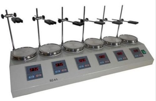 6 Heads Multi unit Digital Thermostatic Magnetic Stirrer Hotplate mixer 110V/220V by Boshi Electronic Instrument