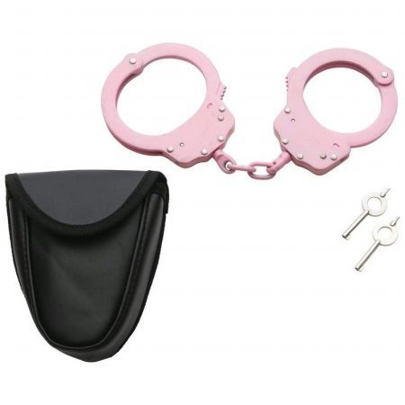 - Maxam® Chain-Linked Steel Handcuffs with Pouch
