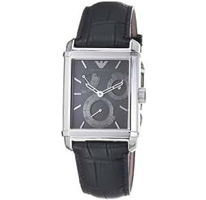 Emporio Armani AR4235 - Reloj de pulsera hombre, piel, color negro