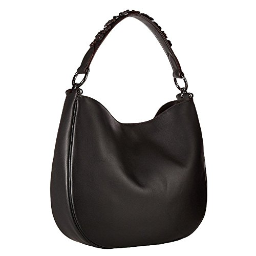 COACH Willow Floral Hobo Black Nomad Nickel in Dark in 55543 RwaRr6