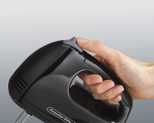 Proctor Silex 5 Speed Easy Mix Electric Hand Mixer with Bowl Rest, Black (62507),