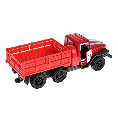 Diecast Metal Model Fire Engine Ural 5557 Russian Fire Truck Toy Die-cast: Toys & Games