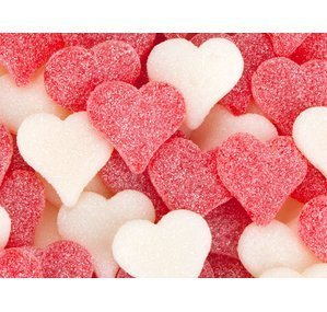Albanese-Red-White-Sour-Hearts-Sanded-45-Pound-Bag