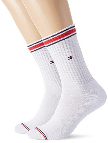 Tommy Hilfiger Men's TH Iconic Sports 2P Socks, Weiß (Weiß 300), 9/11 pack of 2