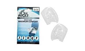 Soul Insole Shoe Bubble Orthotic Insole – Memory Gel Insoles for Plantar Fasciitis, Pronation, Heel Pain – Highly Durable Soft Memory Gel (1. Transparent (Thicker Support), Large)