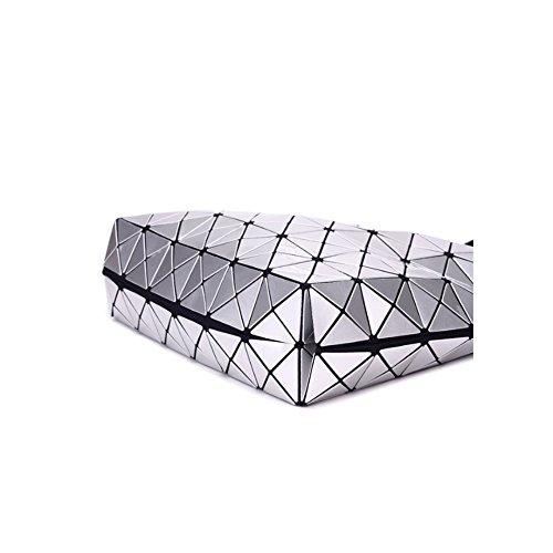 Géométriques Messenger Laser Sacs épaule Cuir à Sacs Silver Verni AJLBT Sacs Sacs Diamants Main En Mesdames YA1Bq1