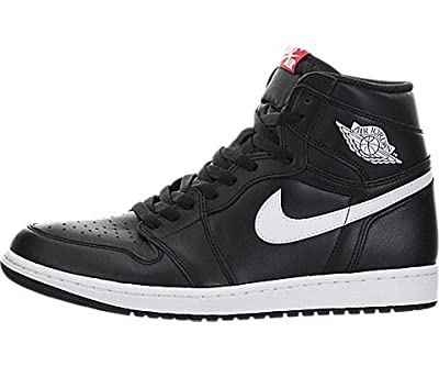 Jordan Nike Mens Air 1 Retro High OG Ying Yang Pack Basketball Shoes (7.5) Black/White
