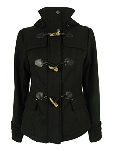 Celebrity Pink Hooded Duffle Coat - Black - Small