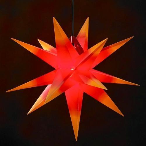 100cm XXL Außenstern   Adventsstern rot mit gelben Spitzen Farbverlauf wetterfest inklusive Kabelset
