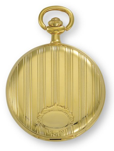 Avalon Classic II Series Gold Tone Covered Pocket Watch with Chain # 1442