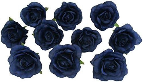 Amazon 10 Navy Blue Rose Heads Silk Flower Weddingreception