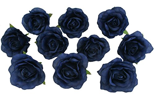 Amazon 10 navy blue rose heads silk flower weddingreception amazon 10 navy blue rose heads silk flower weddingreception table decorations bulk silk flowers large everything else mightylinksfo