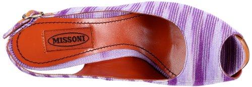 Missoni SANDALO PLAT.INTERNO T.130 DRITTO TM06C - Sandalias de tela para mujer Morado