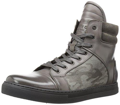 Kenneth Cole New York Menns Dobbel Header Sneaker Mørk Grå