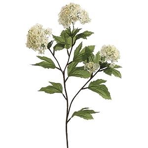 "27"" Silk Snowball Flower Spray -Cream/White (pack of 12) 96"