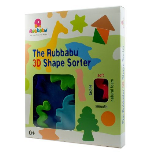 Rubbabu Animal 3D Shape Sorter Natural Rubber Foam Soft Active Toy Game - Educational Toy For Age 0+ NewBorn, Kid, Child, Childern, Infant, Baby
