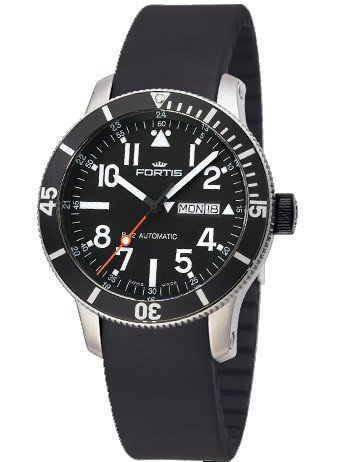 Fortis Mens Watch B-42 Official Cosmonauts Diver Day/Date Titanium Automatic 647.29.41 K