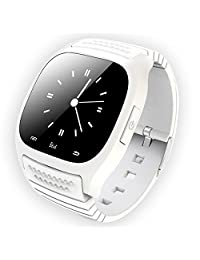RWATCH® Luxury M26 Bluetooth Smart LED Watch R-Watch LED SMS Dial Music Player Anti-lost New For iPhone Samsung HTC White