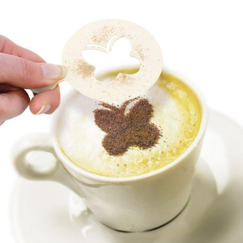 Eddingtons Cappuccino-Schablonen Kaffee-Schablonen 16-teiliges Set