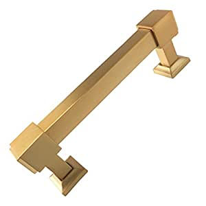 Southern Hills Satin Gold Drawer Pulls 4 Inch Screw