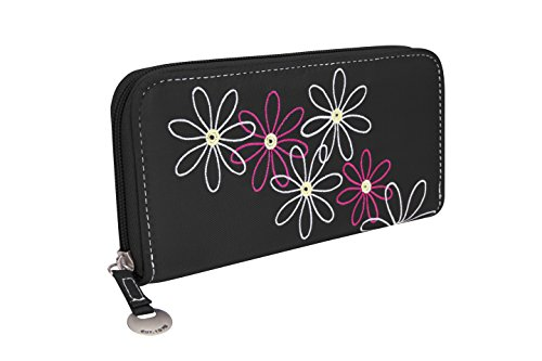 Travelon Safe Id Daisy Ladies Travel Wallet, Black
