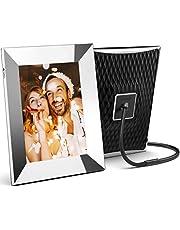 Nixplay 2K Smart Digitale Fotolijst 9,7 Inch Zilver, deel Videoclips en Foto's rechtstreeks via e-mail of app
