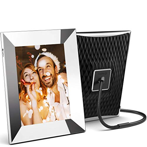 Nixplay 2K Smart Digital Picture Frame 9.7 Inch Silver - Share Video Clips and Photos Instantly via App or E-Mail