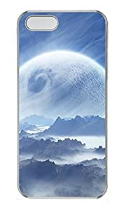 iPhone 5 5S Case The World Marginal Planet Mountain PC Custom iPhone 5 5S Case Cover Transparent